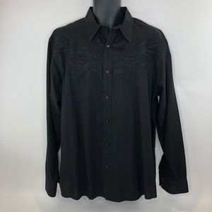 Roar Embroidered Black Shirt